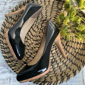 Nine West Selma patent heels sz 7.5 runs small